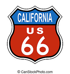 California Route US 66 Sign