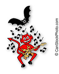 Little Imp Playing Guitar