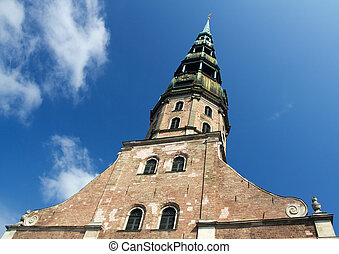 St Peter Church in Riga, Latvia - St Peters Church in Riga,...