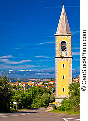 Sutomscica village and Zadar channel view, Island of Ugljan,...