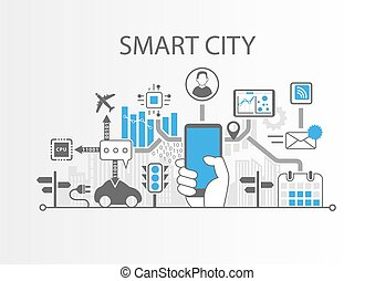 Generic Background 6 - Smart city vector background