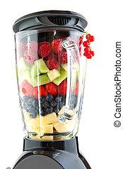 Fruit in the blender