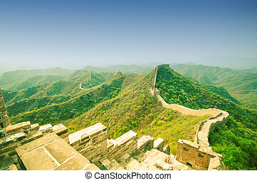 Great wall by Jinshaling in China - View on Great wall by...