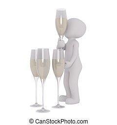 3d man champagne 65 - 3d man champagne