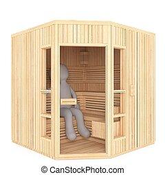 3d man sauna session 60 - 3d man sauna session
