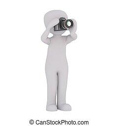 3d man camera equipment 32