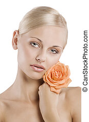 beauty portrait with rose