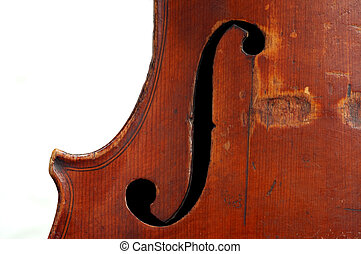 violin clef - Detail (close-up) of a treble clef at a old...