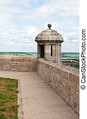 Langres tower with view - tower at the city wall from old...
