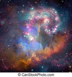 銀河, スペース, 海原, らせん状に動きなさい