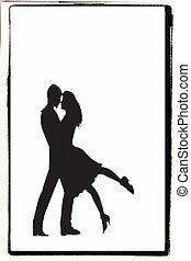 shadow couple kissing - card with kissing images