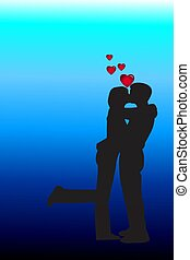 kissing couple - couple in love kissing