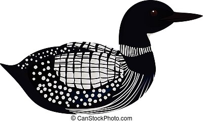 Loon bird cartoon vector illustration