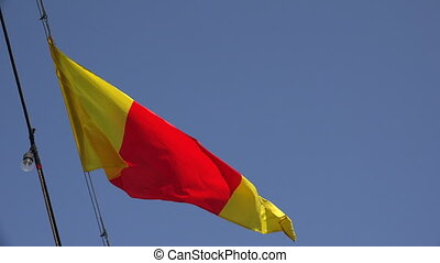Yellow-red ensign. A triangle. 4K. - Yellow-red ensign. A...