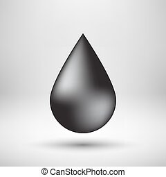 Black Bubble Icon Badge with Light Background - Black oil...