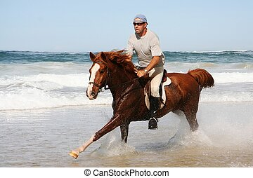 Running Horse at beach