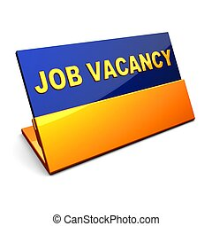 Looking for a job - Glossy badge with inscription JOB...