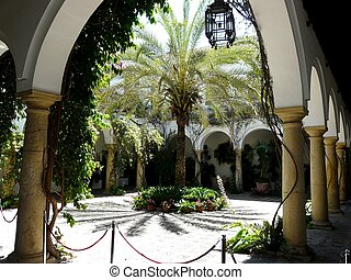 Spanish courtyard - Courtyard at the Palacio de Viana in...