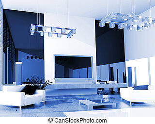 Modern hotel room exclusive design 3D the image