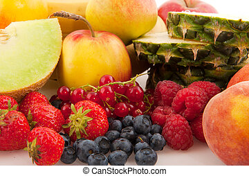 Various fresh fruit - Various fresh healthy fruit with melon...