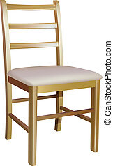 wooden chair - vector wooden chair on white background