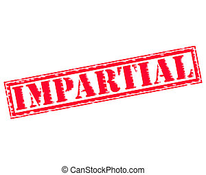 IMPARTIAL RED Stamp Text on white backgroud