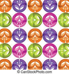 colorful shiny flower pattern , vector illustration