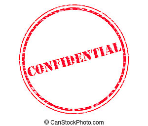 CONFIDENTIAL RED Stamp Text on Circle white backgroud