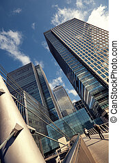 Canary Wharf, London - Canary Wharf is a large business and...
