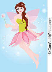 Fairy princess - A vector illustration of a fairy princess