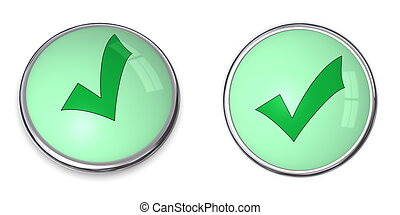 Button Tick Mark Symbol