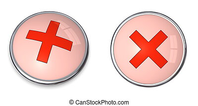 Button Cross Symbol