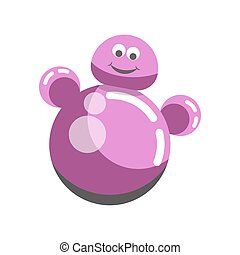 Kid toy children plaything roly-poly tumbler doll vector icon