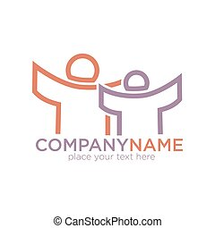 People outline icon for social company template - People...