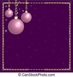 Christmas Pink Purple Ornaments