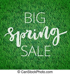 Spring sale hand written inscription - Big spring sale hand...