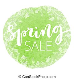 Spring sale hand written inscription - Spring sale white...