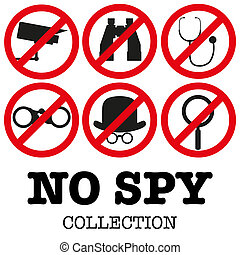 Anti-spyware icon illustration - Collection of signs...