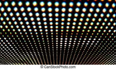 Working led screen macro - Working led screen close up