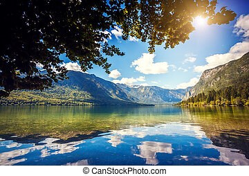 Triglav national park Slovenia - Fantastic mountain lake in...