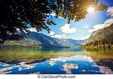 Triglav national park Slovenia - Fantastic mountain lake in...