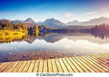 High Tatra Slovakia - Fantastic mountain lake in National...