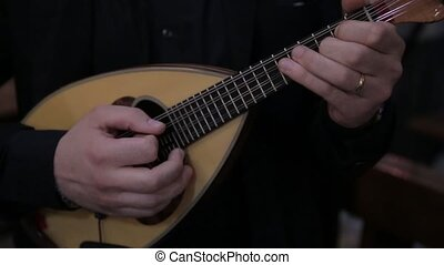 Mandolin man hands player music.