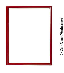 wooden frame for painting or picture on white background...