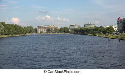 Martynov embankment in St. Petersburg. 4K. - Martynov...