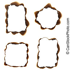 burn paper frame background - collection of burnt paper...