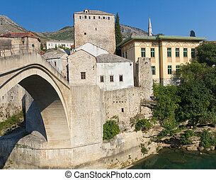 Mostar Old Bridge, Bosnia - Stari Most, the Famous Old...