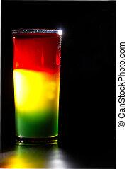 Traffic light - Original designer cocktail: traffic light in...