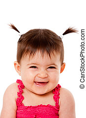 Happy laughing baby - Face of cute happy smiling laughing...