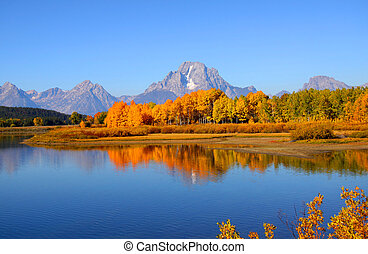 Grand Tetons - Scenic landscape of Grand tetons national...